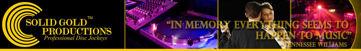 Solid Gold Productions DJ Services serving NH, MA, RI, ME, VT, and CT